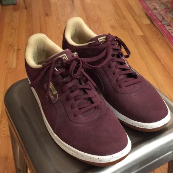 Puma G. Vilas Burgundy Speckle Sneakers